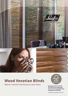 luxaflex wood blind brochure
