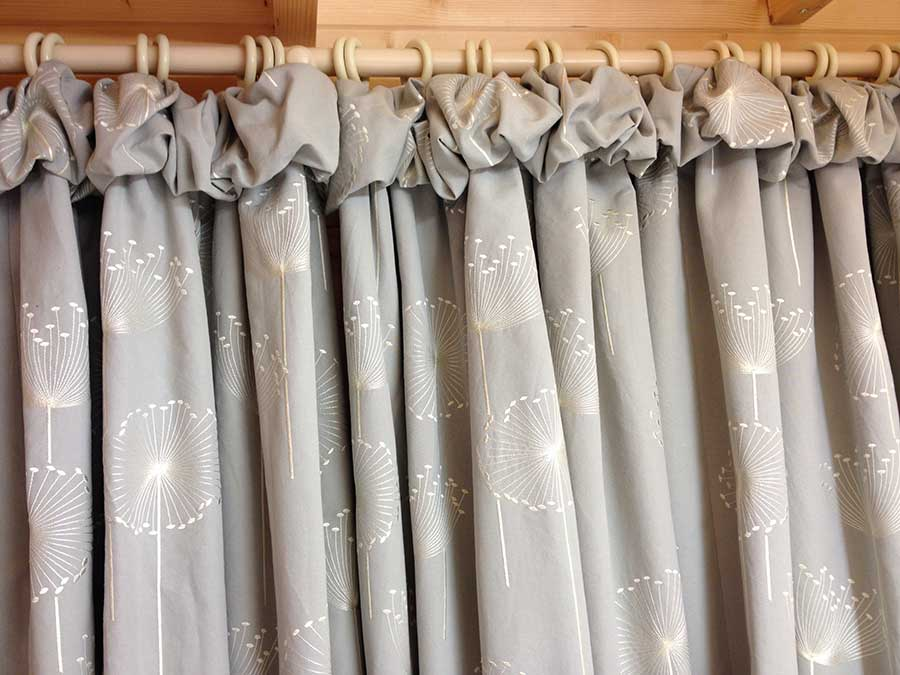 curtains in a customers home.
